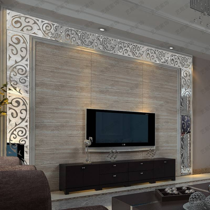 Inspiration about 3D Acrylic Mirror Wall Stickers Tv Background Wall Waistline With Regard To Acrylic Wall Mirrors Stickers (#10 of 15)