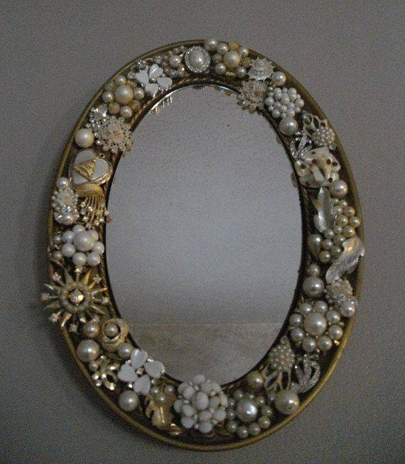 Inspiration about 43 Best Mirrors Images On Pinterest | Mirrors, Vintage Jewelry And Within Rhinestone Wall Mirrors (#14 of 15)