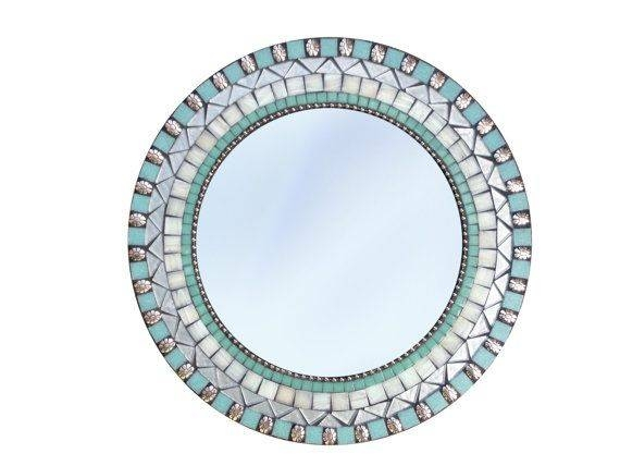 Inspiration about 541 Best Mosaic Mirrors Images On Pinterest | Green Street, Glass Inside Turquoise Wall Mirrors (#9 of 15)