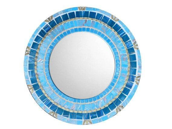 Inspiration about 541 Best Mosaic Mirrors Images On Pinterest | Green Street, Glass With Blue Wall Mirrors (#10 of 15)