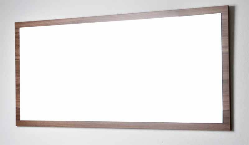 Inspiration about 57 In. W X 26.5 In. H Framed Wall Mirror In Walnut Tn A1440 M Wn With Walnut Wall Mirrors (#1 of 15)
