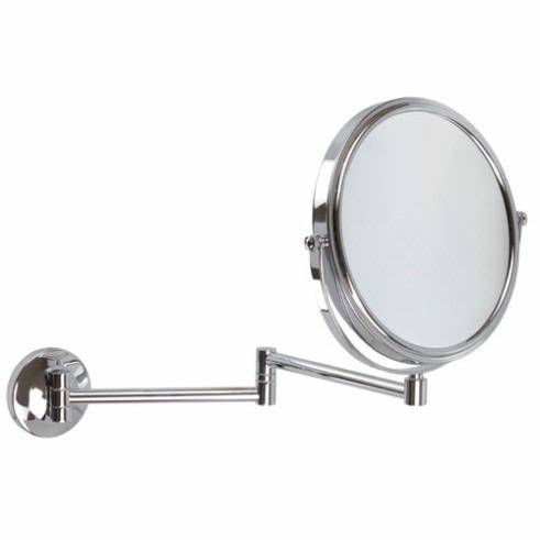 5X Magnification Wall Mounted Extendable Mirror At Executive Shaving Inside Extendable Wall Mirrors (#2 of 15)