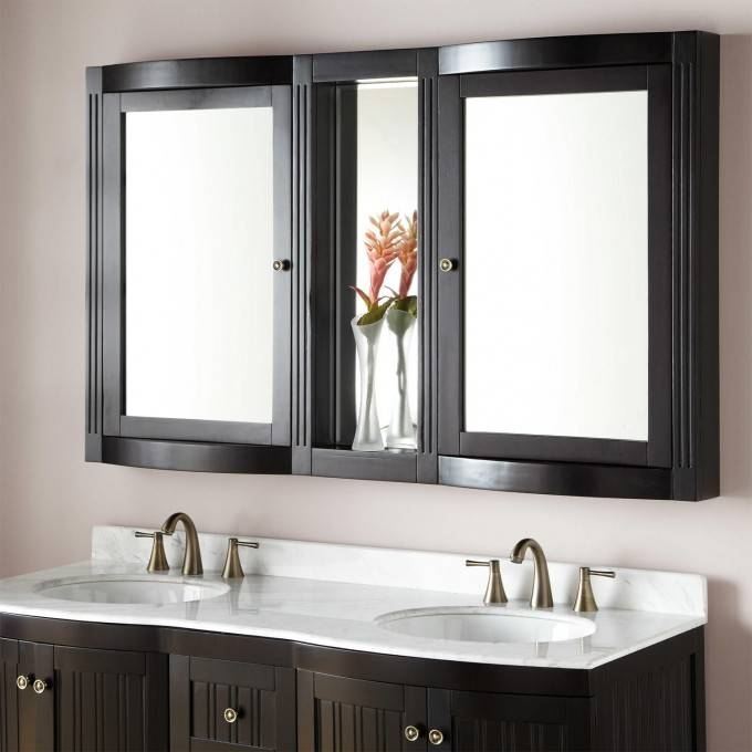 "60"" Palmetto Medicine Cabinet – Bathroom Regarding Bathroom Medicine Cabinets With Mirrors (#1 of 15)"