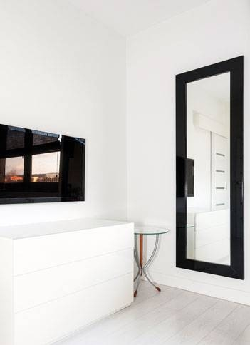 Inspiration about 66 X 40 Huge Mirror | Mirrorlot Throughout Black Frame Wall Mirrors (#11 of 15)
