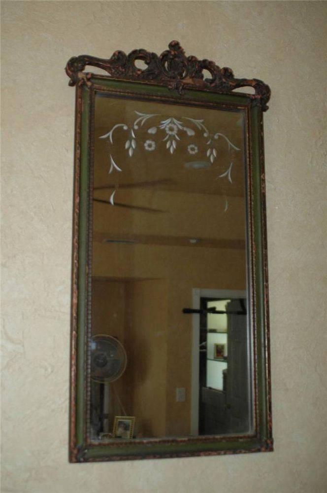 684 Best Vintage Mirrors Images On Pinterest | Vintage Mirrors Intended For Vintage Wood Mirrors (#3 of 15)
