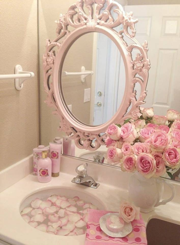 699 Best Mirrors & Picture Frames Images On Pinterest | Mirror Inside Girls Pink Wall Mirrors (#3 of 15)