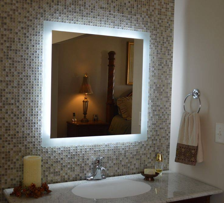7 Best Lighted Vanity Mirrors Images On Pinterest | Vanities With Lighted Vanity Wall Mirrors (#1 of 15)
