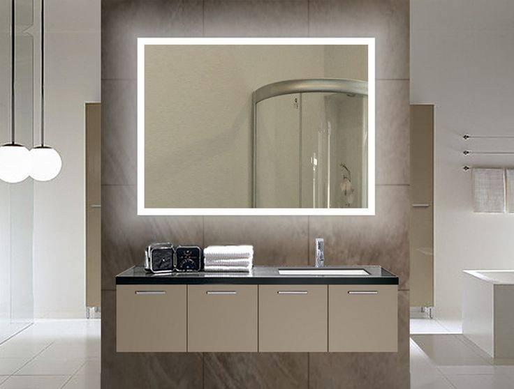 Popular Photo of Backlit Bathroom Wall Mirrors