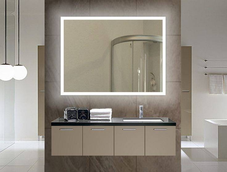 8 Best Illuminated Mirror Images On Pinterest | Backlit Bathroom Within Illuminated Wall Mirrors For Bathroom (#2 of 15)