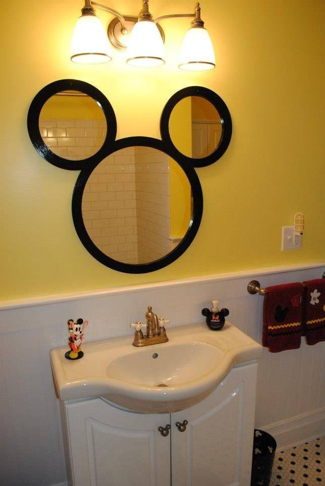 Inspiration about 9 Interesting Mickey Mouse Bathroom Mirror Photo Ideas | Spruce Up With Regard To Disney Wall Mirrors (#7 of 15)