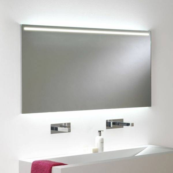 Inspiration about 9 Led Illuminated Bathroom Mirrors, Fiori Lighted Vanity Mirror Pertaining To Led Illuminated Bathroom Mirrors (#10 of 15)