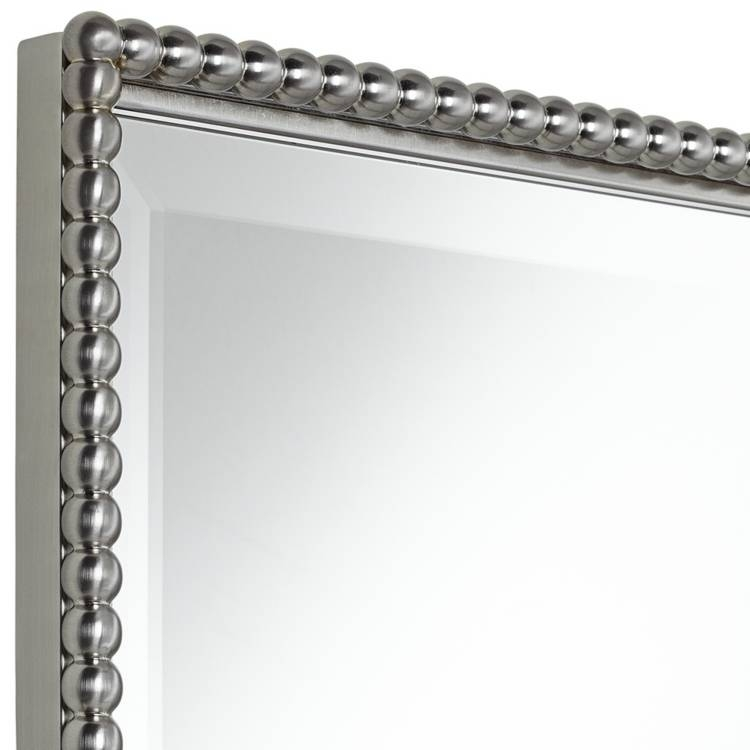 A Brushed Nickel Frame For A Bathroom Mirror | Useful Reviews Of Throughout Brushed Nickel Wall Mirror For Bathroom (#1 of 15)