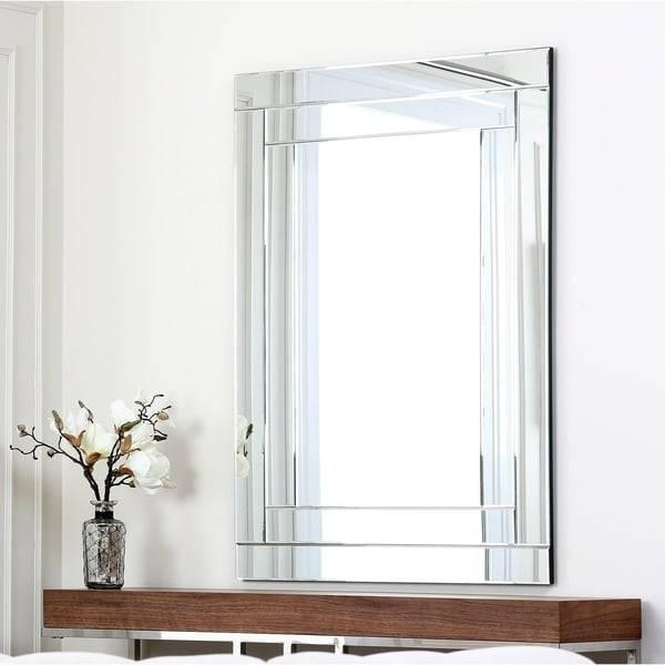 Abbyson Fairmont Rectangle Wall Mirror – Free Shipping Today Within Rectangle Wall Mirrors (View 11 of 15)