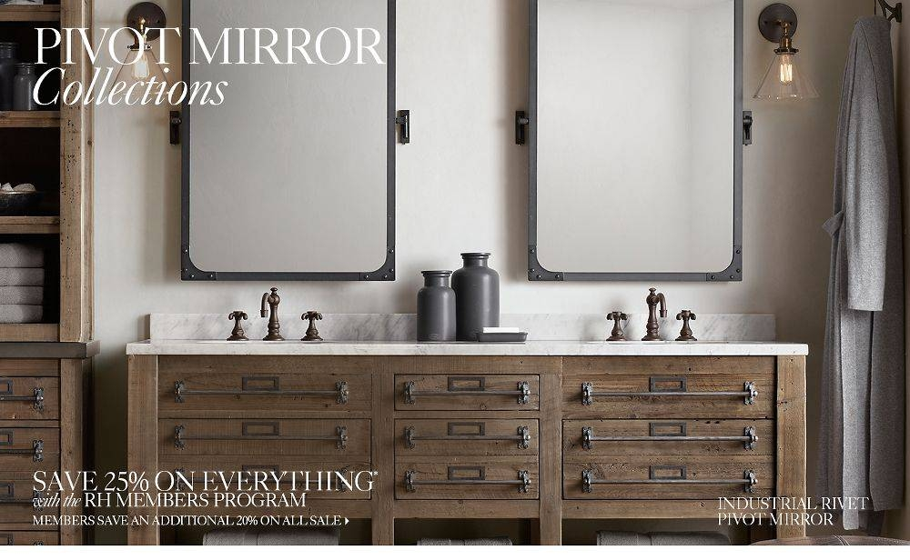 Absolutely Smart Pivoting Bathroom Mirror Pivot Mirrors Rh Wall In Pivoting Wall Mirror (#2 of 15)