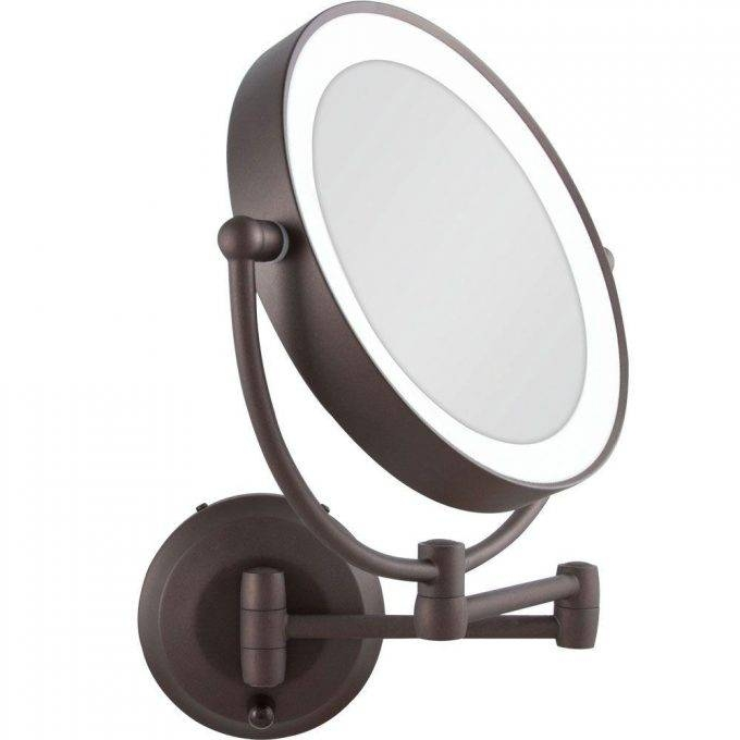 Accessories: Lighted Magnifying Mirror For Unique Your Vanity Pertaining To Magnified Vanity Mirrors (#2 of 15)