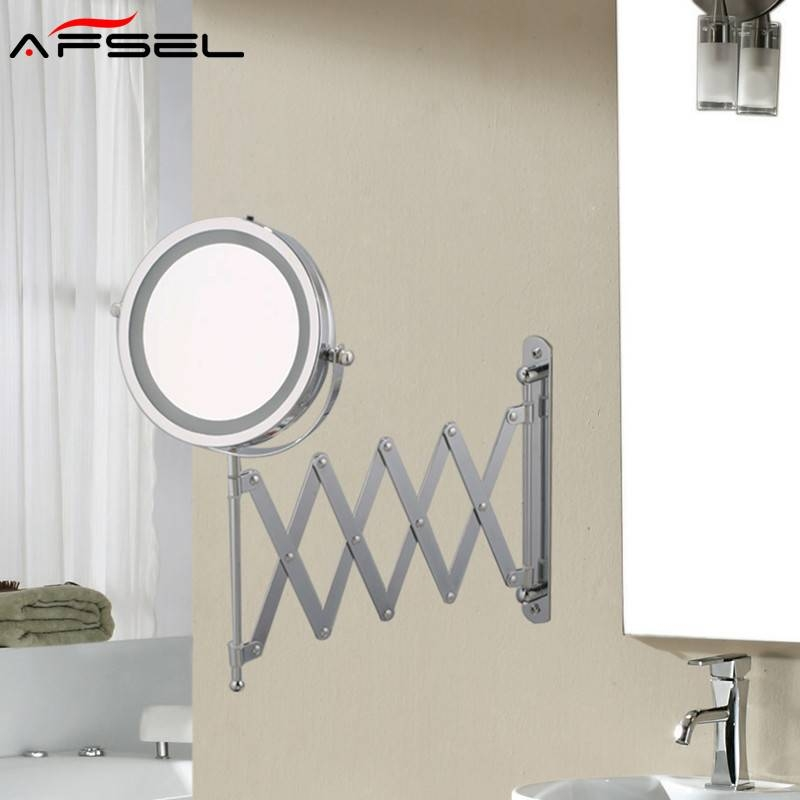 Afsel 7 Inch Makeup Mirrors Led Wall Mounted Extending Folding With Extending Wall Mirrors (View 2 of 15)