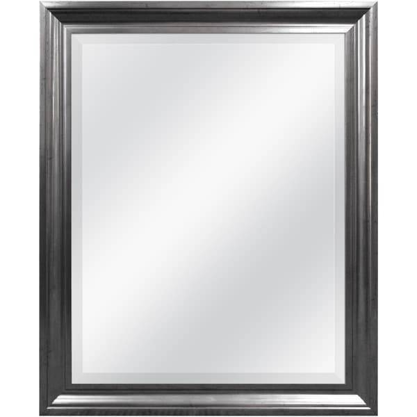 Aged Pewter Rectangular Wall Mirror – Free Shipping Today With Pewter Wall Mirrors (#2 of 15)