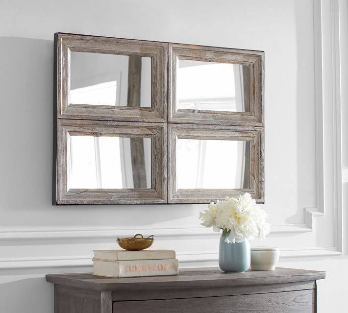 Aiden Accent Wall Mirror | Pottery Barn Inside Gray Wall Mirrors (#1 of 15)