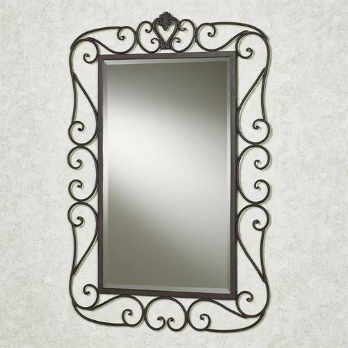 Aldabella Tuscan Slate Wrought Iron Wall Mirror With Regard To Wrought Iron Wall Mirrors (#6 of 15)