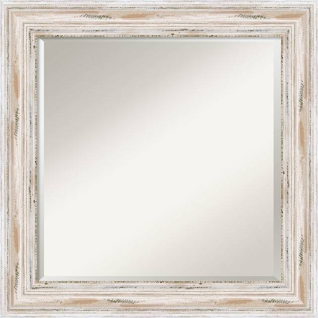 Alexandria Wall Mirror, Whitewash – Traditional – Wall Mirrors Inside Traditional Wall Mirrors (#1 of 15)