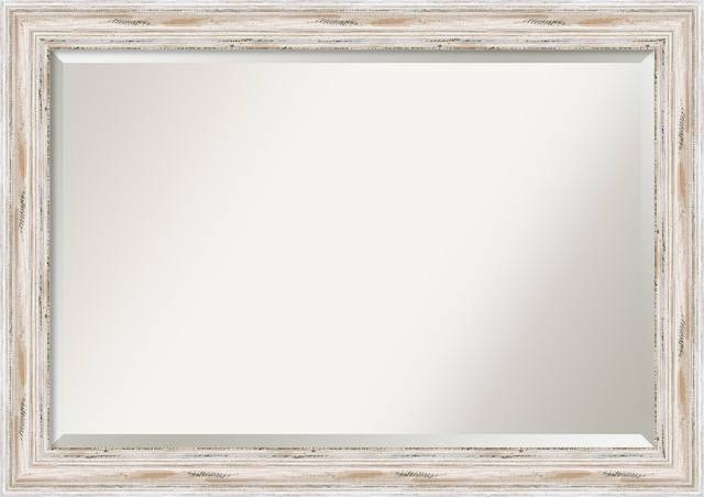Alexandria Wall Mirror, Whitewash – Traditional – Wall Mirrors With Regard To Traditional Wall Mirrors (#2 of 15)