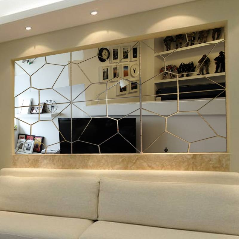 Amazing 20+ Panel Mirror Wall Design Inspiration Of Best 25+ Inside Abstract Wall Mirrors (View 4 of 15)