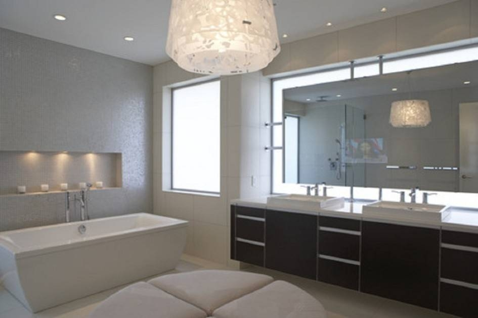 Amazing 25+ Bathroom Mirrors Large Wall Inspiration Of Terrific For Contemporary Bathroom Wall Mirrors (#2 of 15)
