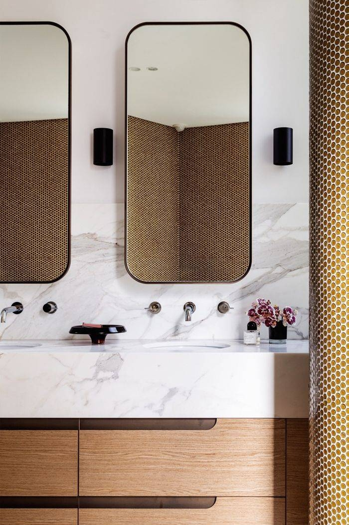 Amazing Chic Modern Bathroom Mirror Mirrors And Lighting The Ideas Regarding Modern Bath Mirrors (View 15 of 15)