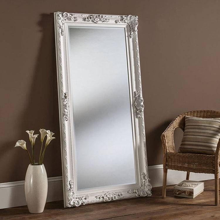 Amazing Of White Framed Full Length Mirror Best 25 Country Full Regarding White Framed Wall Mirrors (View 12 of 15)