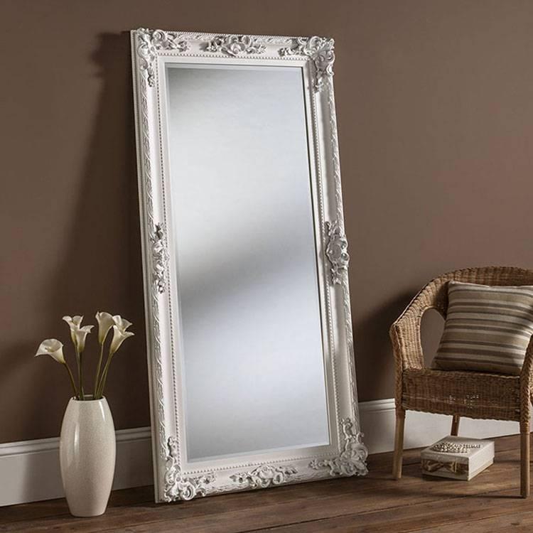 Amazing White Framed Full Length Mirror Full Length Gold Wall Intended For Framed Full Length Wall Mirrors (#2 of 15)