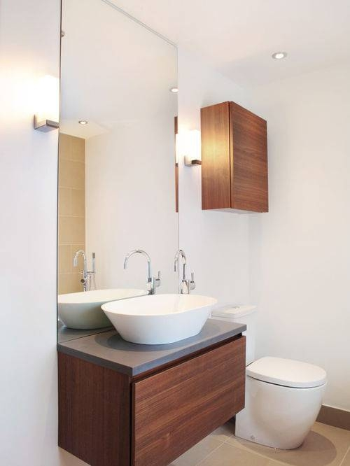 An Unconventional Way To Decorate Your Bathroom Using A Large For Large Flat Bathroom Mirrors (#2 of 15)