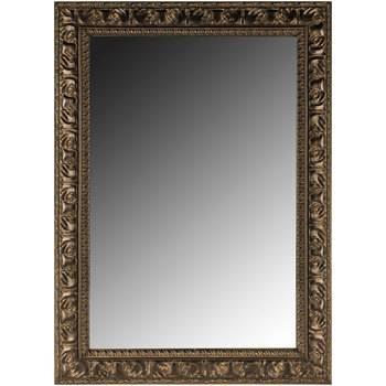 Antique Black Textured Polyresin Rectangle Wall Mirror   Hobby With Rectangle Wall Mirrors (View 15 of 15)