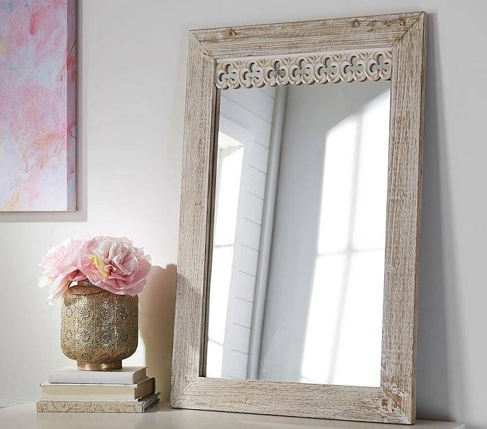 Antique Carved Wood Mirror In Vintage Wood Mirrors (#6 of 15)