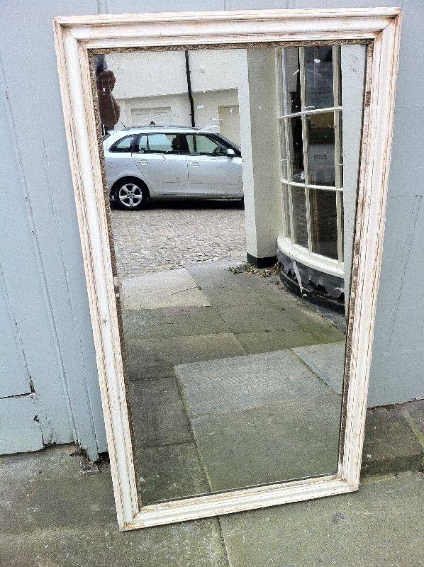Antique Decorative English Carved Wood Distressed Wall Mirror Regarding Distressed Wall Mirrors (#2 of 15)