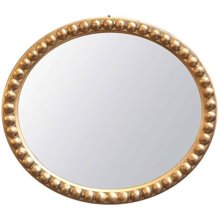 Antique Gold Leaf Oval Mirror At 1Stdibs In Gold Oval Mirrors (#1 of 15)