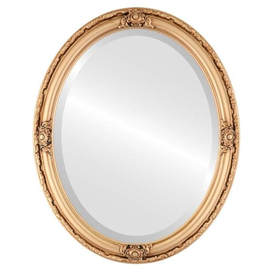 Antique Gold Oval Mirrors From $136 | Free Shipping With Gold Oval Mirrors (#2 of 15)