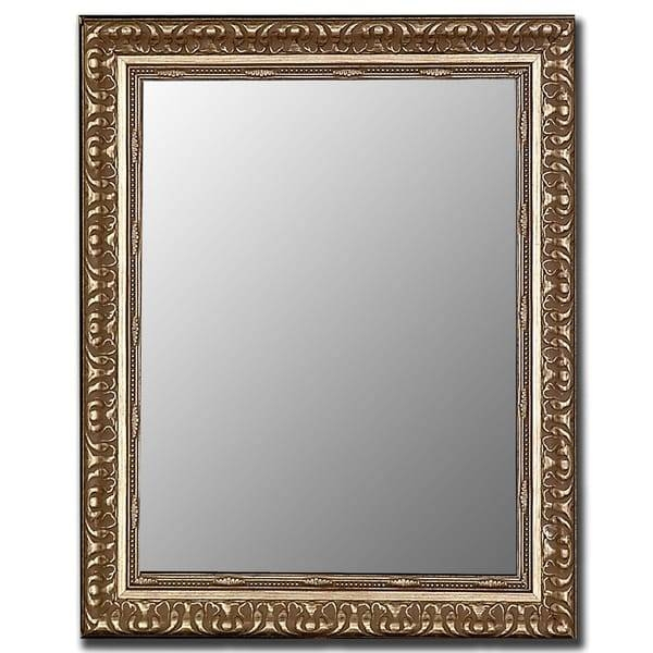 Antique Silver Framed Wall Mirror – Free Shipping Today In Silver Framed Wall Mirrors (View 14 of 15)