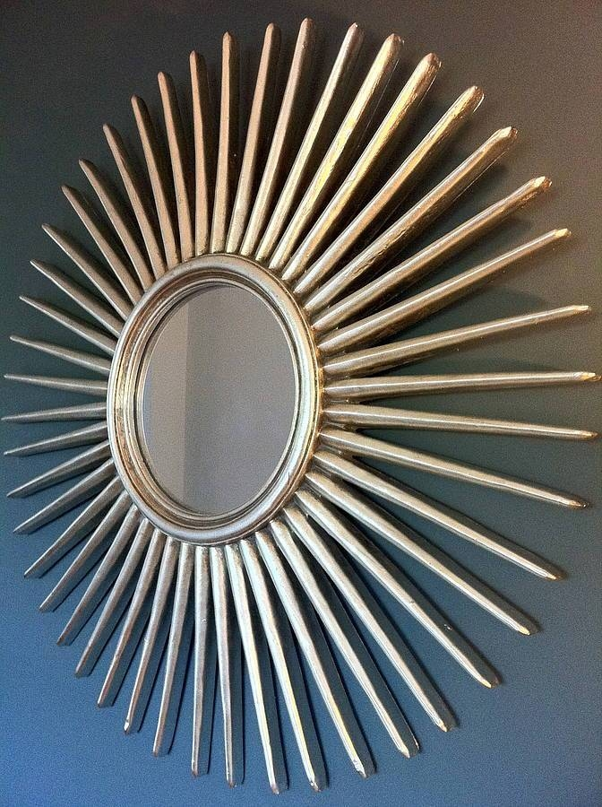 Antique Silver Starburst Wall Mirrorthe Forest & Co With Sunburst Wall Mirrors (View 7 of 15)