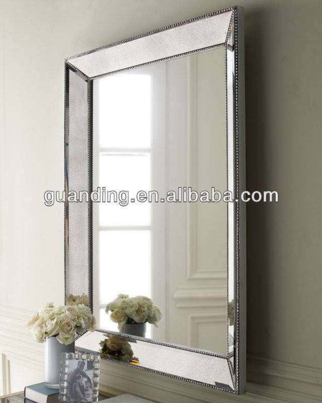 Antique Stainless Steel Edged Venetian Home/ Hotel Decorative With Regard To Stainless Steel Wall Mirrors (View 5 of 15)