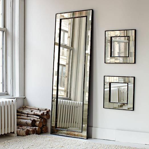 Antique Tiled Floor Mirror | West Elm Inside Floor Wall Mirrors (#1 of 15)