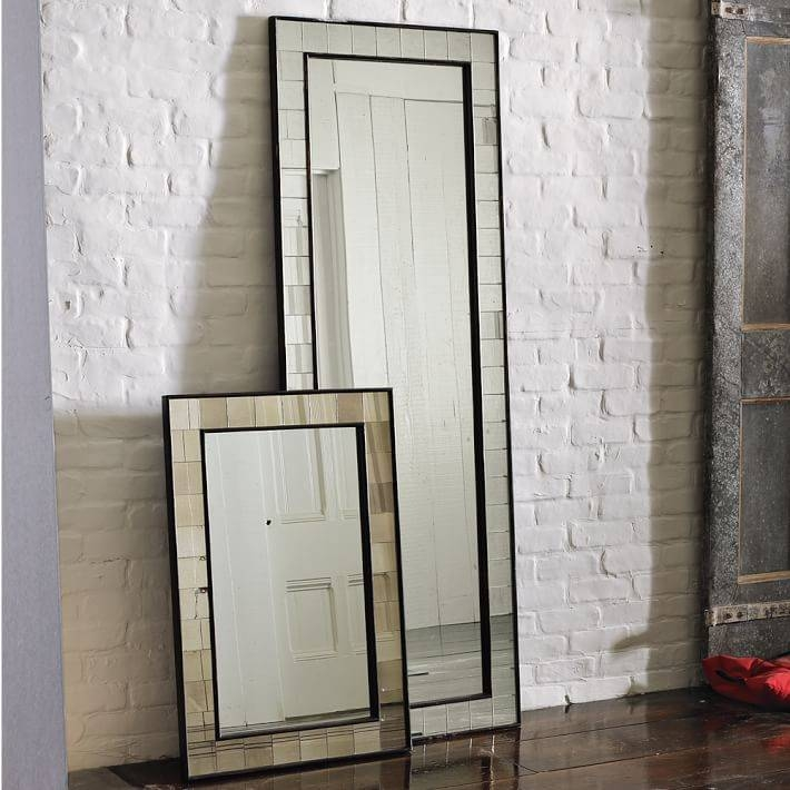 Antique Tiled Wall Mirror | West Elm Inside Window Wall Mirrors (#3 of 15)