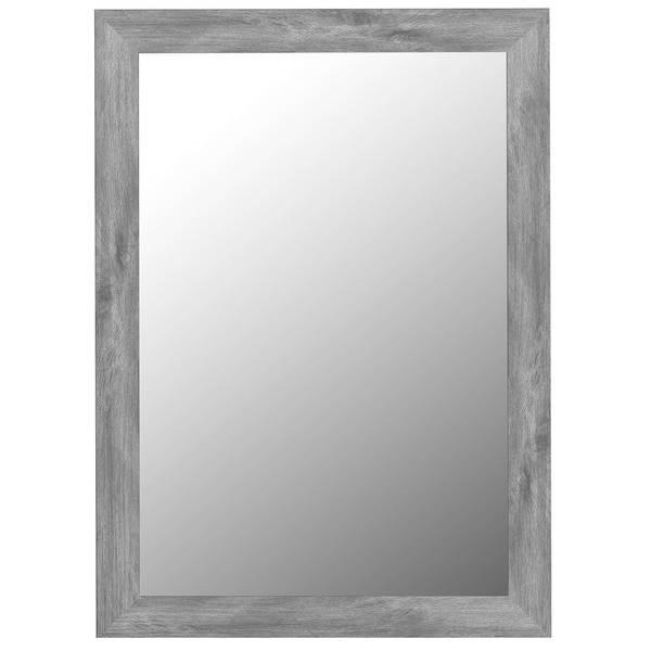 Antique Weathered Grey Framed Wall Mirror – Free Shipping Today With Grey Wall Mirrors (#2 of 15)
