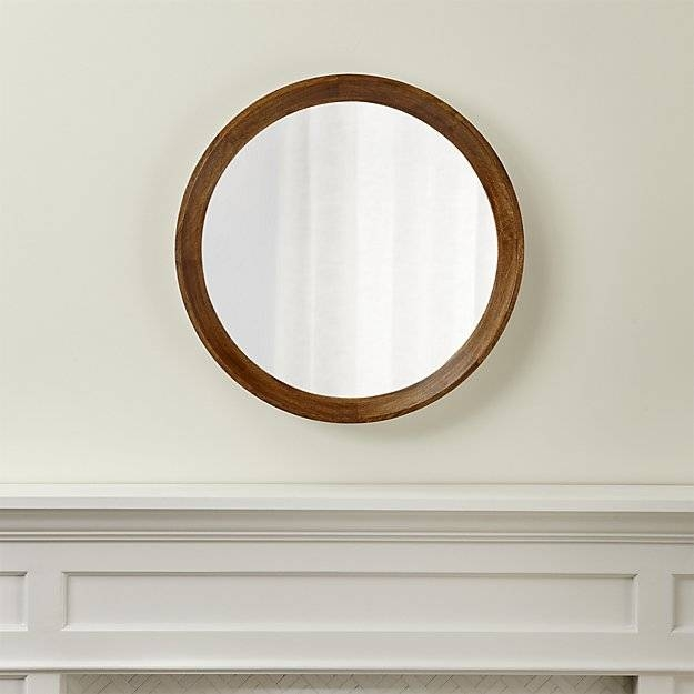 Anurhada Mango Wood Mirror | Crate And Barrel With Round Wall Mirrors (#1 of 15)