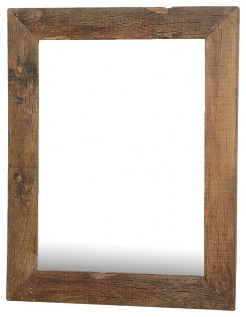 Appalachian Rustic Large Reclaimed Wood Wall Mirror W Simple Frame Inside Large Wood Wall Mirrors (#1 of 15)