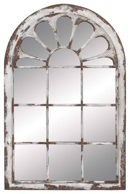 """Inspiration about Arched Windowpane Metal Wood Wall Mirror, 34""""x52"""" – Farmhouse Within Arch Wall Mirrors (#9 of 15)"""