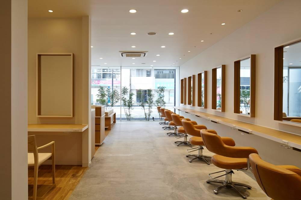 Architecture: Great House Salon Decor With Ceiling Lamps And Neat Pertaining To Salon Wall Mirrors (View 12 of 15)