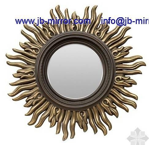 Art Decorative Wooden Framed Hanging Mirror And Old Vintage Wood Regarding Decorative Wooden Mirrors (#3 of 15)