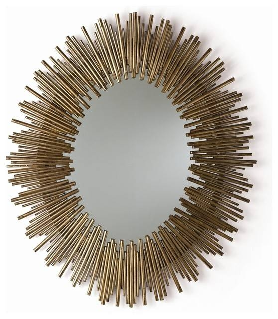 Arteriors Prescott Oval Mirror – Transitional – Wall Mirrors – In Gold Oval Mirrors (#4 of 15)