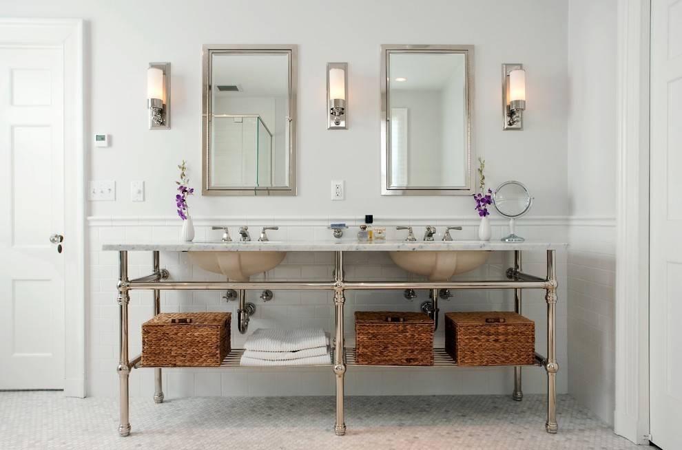 Astonishing Brushed Nickel Bathroom Sconces 2017 Ideas – Wall Inside Brushed Nickel Wall Mirror For Bathroom (View 7 of 15)