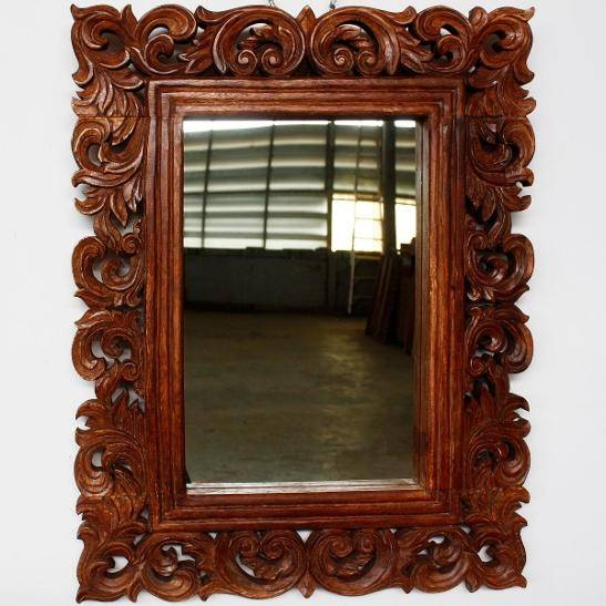 Astonishing Ideas Wood Framed Wall Mirrors Bold Idea Mirror Vine For Wooden Framed Wall Mirrors (#1 of 15)